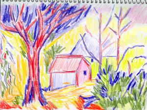With Crayola Crayons