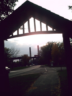 Power Plant Through Park Arches