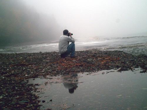 Mike on Shore of Lk. Superior, copyright 2007 KimNixon