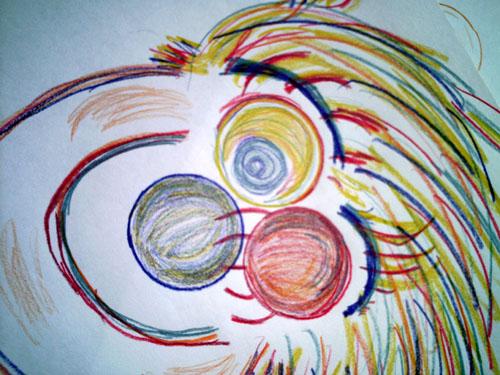 Clown Doodle, copyright Kim Nixon