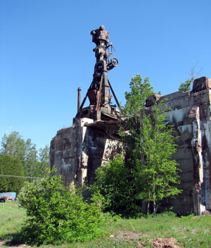 Stamping Mill Ruins Outside Hubbell, photo by Kim Nixon