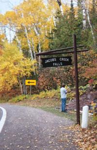 Jacob Falls, Copper Country, Michigan, Photo Copyright Kim Nixon