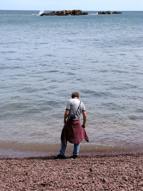 Mike Comes to the Water, photo by Kim Nixon
