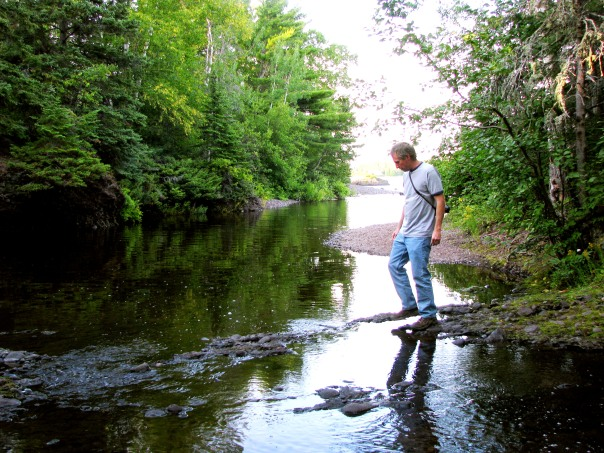 Mike Walks on Water, photo copyright Kim Nixon