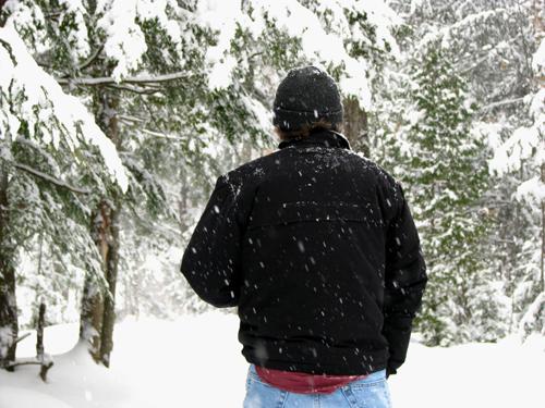 Mike on Snowy Teal Lake Trail, photo by Kim Nixon