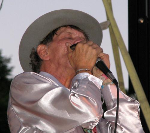 Watermelon Slim, Marquette Area Blues Fest, photo copyright Kim Nixon