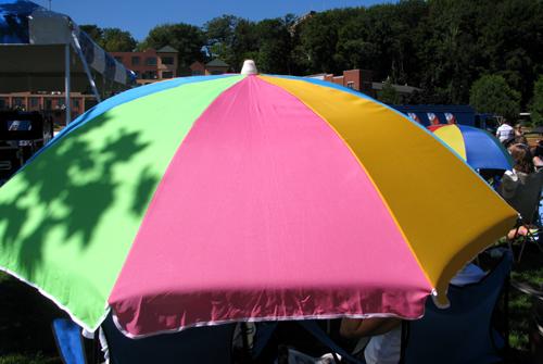 Umbrellas, Marquette Area Blues Fest 2008, photo copyright Kim Nixon