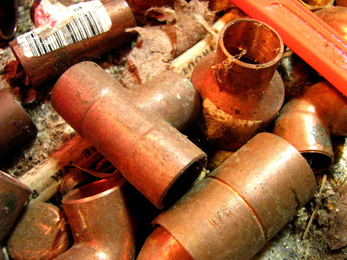 Copper Pipe, Men at Work Series, photo copyright Kim Nixon