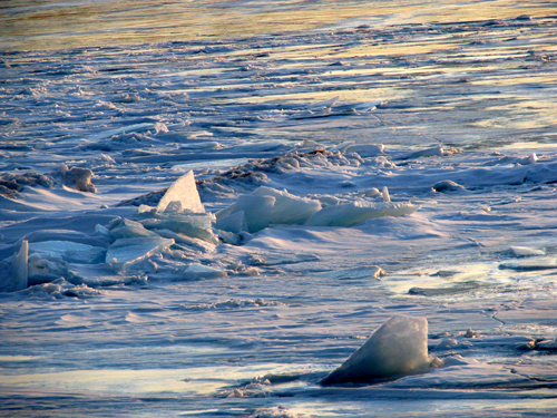 Ice off Sunset Beach, Presque Isle, Marquette Michigan--photo by Kim Nixon