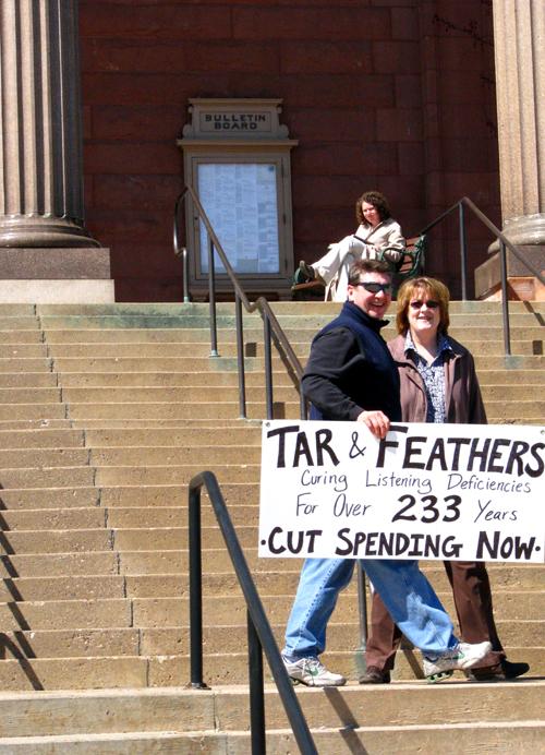 Tax Day Tea Party Marquette, Michigan, photo by Kim Nixon